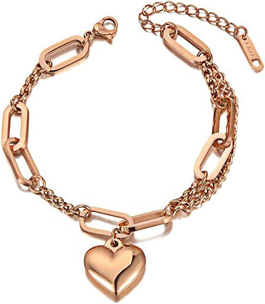 Bohemia Chain & Link Bracelets, Design Fashion Heart Charm Bracelets, Jewelry Come Gift Box, Women Girls Motivational Birthday