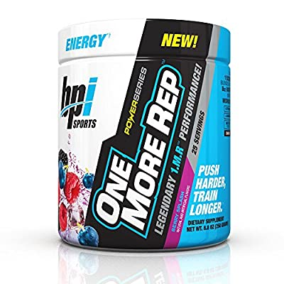 Bpi Sports One More Rep Pre Workout Powder Energy Drink with Beetroot for Muscle Pump from BPI Sports