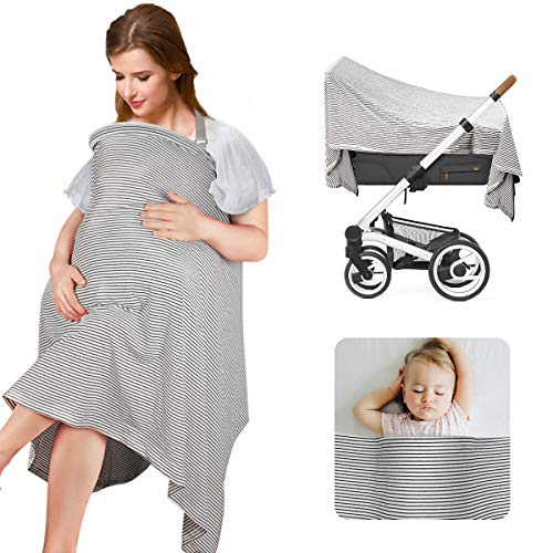PHILORN Nursing Cover for Baby Breastfeeding Cotton Stroller...