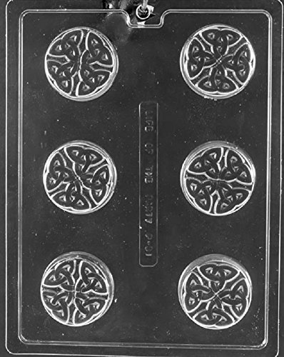 Grandmama's Goodies P031 Celtic Cookie Chocolate Candy Soap Mold with Exclusive Molding Instructions