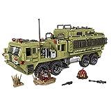 GODNECE Mini Blocs de Construction, 1377 Pièces Militaire Figurine Véhicule Militaire Blocs de Construction Kit-Camion Lourd Scorpion