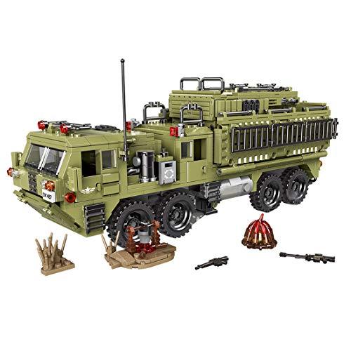 MAJOZ 1377 Piezas Camión y Minifiguras ,Militares Soldado Armas y Accesorios,Bloques de Construcción para Niños y Adulto