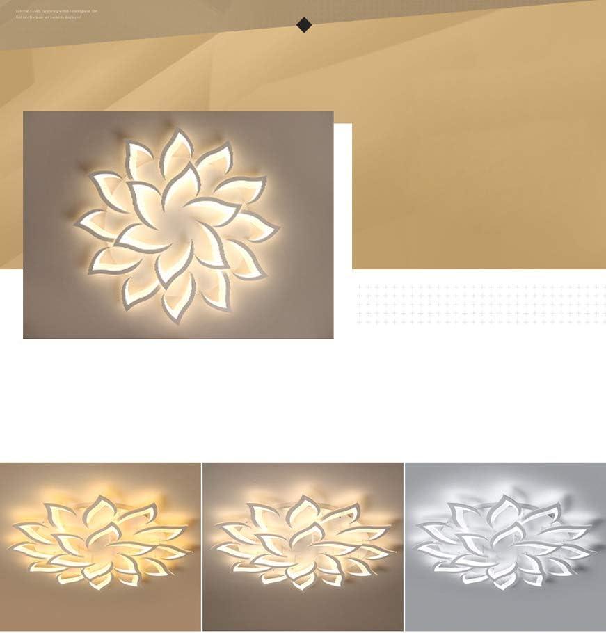 Haushalts Dimmbare LED-Deckenleuchte Acryl Blumenform Ultradünne Schlafzimmer Deckenleuchte 18 Lights