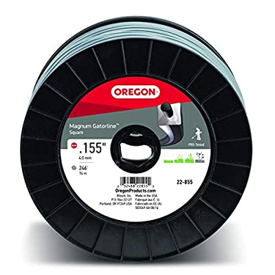 Oregon 22-855 Heavy-Duty Professional Magnum Gatorline Square String Trimmer Line .155-Inch Diameter 3-Pound Spool