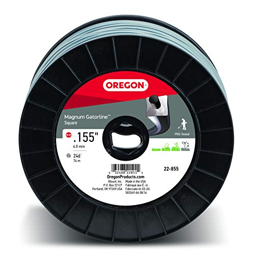 Oregon 22-855 Heavy-Duty Professional Magnum Gatorline Square String Trimmer Line .155-Inch Diameter 3-Pound Spool