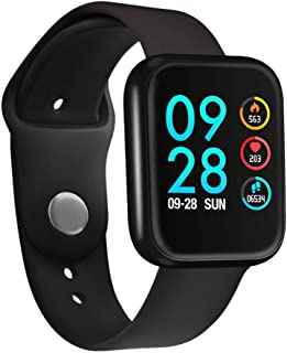 JinJin Smart Watch Sports High-End Fitness Tracker Activity Trackers Health Exercise Watch with Heart Rate and Sleep Blood Pressure Watch (black)