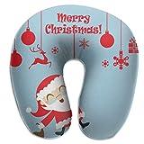 Almohada en Forma de U Cuello Navidad Muñeco de Nieve Viaje Almohada Multifuncional Coche Avión
