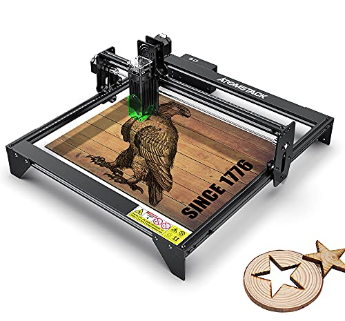 A5 Laser Engraver CNC 20W, Laser Engraving Cutting Machine 5000mw, Fixed-Focus Eye Protection DIY Laser Marking for Metal, Wood, Leather, Vinyl, 400x410mm