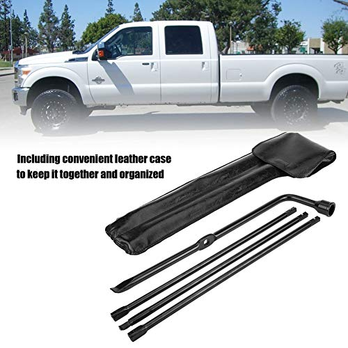 Premium Spare Tire Tool Kit Fit for 2008-2016 Ford F-250 F-350 F-450 F-550 Super Duty with Bag Jack Lug Wrench