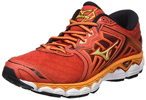Mizuno Wave Sky, Zapatillas de Running para Hombre, Multicolor (Grenadine/Limepunch/Black), 43 EU