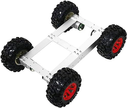 AlHommescla Chassis Camion-citerne Robot 4WD Chassis de Réservoir Jeux éducatifs - Roue Rouge