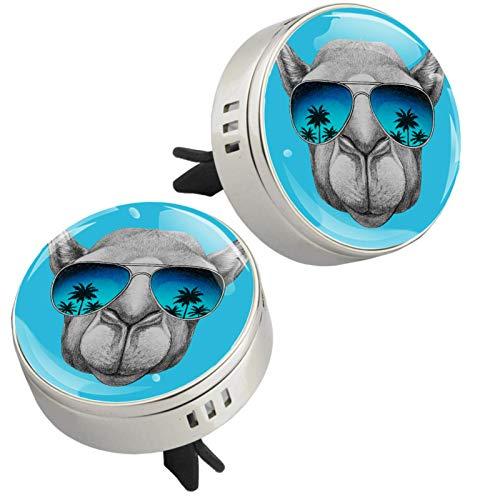 Z&Q Coche Aromaterapia Aceites Esenciales Difusor Gafas de Sol para Perros 2 Pcs Premium Clip de Ventilación de Aromaterapia en Aleación de Zinc con 4 Pcs Estera 33.8mmX46.4mm