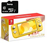 """Newest Nintendo Switch Lite Game Console, 5.5"""" Touchscreen, Built-in Plus Control Pad, Yellow, W/ 128GB Micro SD Card, Built-in Speakers, 3.5mm Audio Jack"""