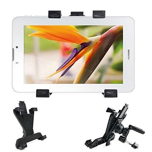 """Fijación, soporte de coche rejilla de ventilación adaptable 360° para tablets Polaroid Infinite 7 """", 10,1"""", diseño de arcoíris y I-DURAGADGET"""