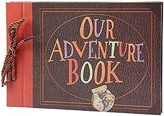 Our Adventure Book Scrapbook,Album Photo Scrapbooking 29x19cm Albums Photo 80 Pages,Cadeau d'anniversaire de la Saint-Vale...