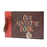 Álbum de Fotos Our Adventure Book DIY Álbum de Recortes 80 Páginas 29X15cm Libro de Invitados Boda Aniversario Regalo del día de San Valentín