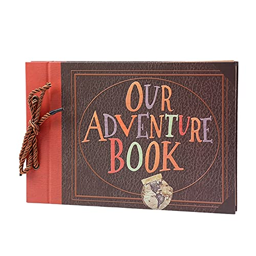 PELLYDA Fotoalbum zum Selbstgestalten,Our Adventure Book Scrapbook 80 Seiten,Vintage DIY Scrapbook...