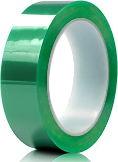 Hxtape 1 Inch Polyester High Temperature Green Powder Coating Masking PET Tape, Ideal to Painting, Powder Coating, Anodizing Applications,1 inch (25mm) 36yds