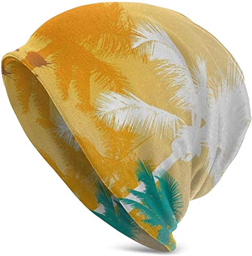 hgdfhfgd Palm Tree Soft Slouchy Beanie Hats Daily Long Baggy Skull Cap...