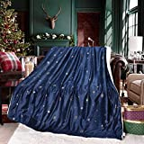 Exclusivo Mezcla 50' x 70' Large Starry Throw Blanket, Reversible Ultra Soft...