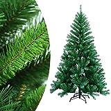 wolketon 2.2m Albero di Natale Artificiale Albero di Natale Deco Albero di Natale in PVC Verde con Supporto Decorazione Natalizia con Supporto in Metallo per Interni ed Esterni-Verde