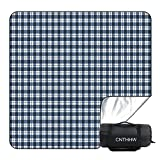 CNTHHW Large Picnic Blanket 79'x79' with 3 Layers Material,Waterproof Foldable Picnic Outdoor Blanket Picnic Mat for Camping Beach Park,Oversized Soft Fleece Material Camping Tote Mat