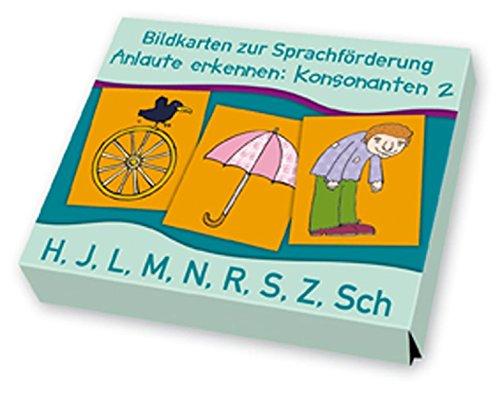 Bildkarten zur Sprachförderung: Anlaute erkennen: Konsonanten 2: H, J, L, M, N, R, S, Z, Sch