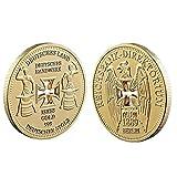 Froiny 1pc Conmemorativos Regalos De La Moneda Alemana Reichsbank Hueco Cruz Recuerdo Colección De Monedas De Colección Monedas De Oro