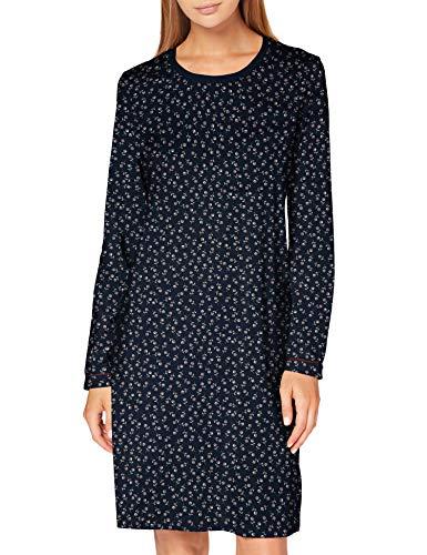 Seidensticker Damen Women Sleepshirt, Long Sleeve Nachthemd, dunkelblau, 038