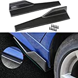 Aishun Dtouch Side Skirts Fits Universal Vehicles Black Carbon Fiber Exterior 450mm Side Bottom Line Extensions Splitter Lip Car Diffusers