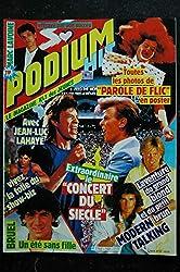 PODIUM HIT 162 août 1985 MARC LAVOINE WHAM GEORGE MICHAEL DEPECHE MODE + POSTERS ALAIN DELON SOPHIE MARCEAU