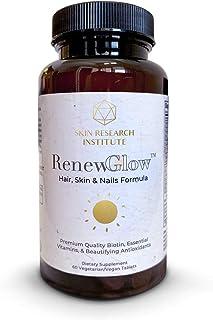 Renewglow - Thicker Fuller Hair - 5000 mcg Biotin Supplement - Fights Against Biotin Deficiency (1 Vegan)