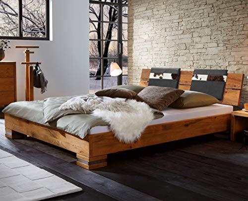 Hasena Oak Wild Bett Cadro 18 Füße Onito 10 Kopfteil Alpa 2er Set Kissen SEMA 140x200