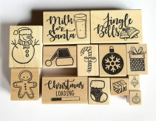 Christmas Theme Rubber Stamps, Christmas Rubber Stamps