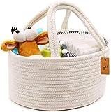 Bolsas para bebés Pañales para niños Cesta de manija portátil duradera para guardería Para viajes en coche Bolsa de orina para mamá recién nacida