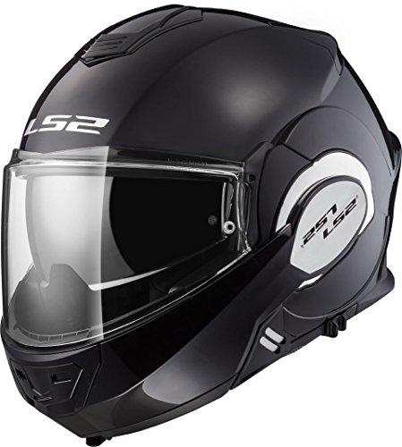 LS2, casco de moto modular VALIANT blanco, XXXL