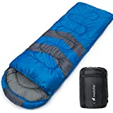 MalloMe Single Camping Sleeping Bag - 4 Season Warm Weather and Winter, Lightweight, Waterproof - Great for Adults & Kids - Excellent Camping Gear Equipment, Traveling, and Outdoor Activities