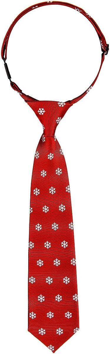 Retreez Christmas shop Snowflakes Pattern Boy's Pre-tied Woven Ultra-Cheap Deals Tie