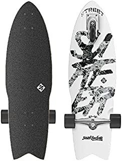 "Street Surfing SHARK ATTACK Skateboard Casterboard Surf Carving Cruiser 9"" x 30"""