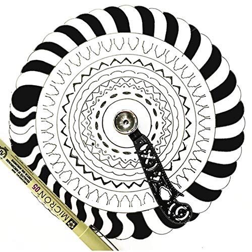 Ritapreaty Scale Ruler, Multifunktions-Magnet Zeichenlineal Zeichenkompass Kreative Mustermessung Zeichenlineal