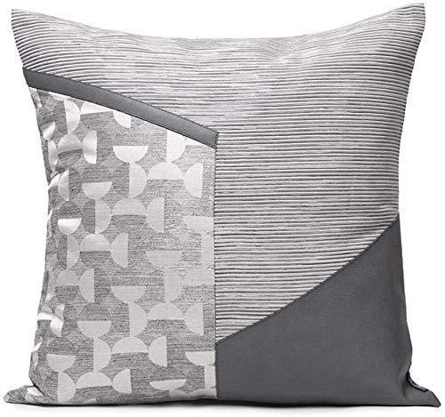 Ronglibai Funda cojin Cojín Decorativo Blanco y Gris Cubiertas de Almohadas con Estilo con Relleno para Sala de Estar sofá sofá 45 cm x 45 cm 18 x 18 Pulgadas
