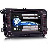 iFreGo 7 Zoll 2 Din Autoradio Für VW Golf 5/6 Sharan Skoda SEAT, GPS Navigation,DVD CD Player,autoradio Bluetooth,unterstützt Lenkradsteuerung,Windows CE