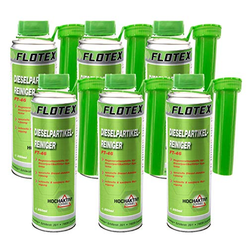 Flotex Diesel Partiklefilter Reiniger, 6 x 250ml Additiv DPF Dieselpartikelfilter