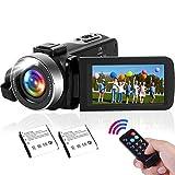 Videocámara de 2,7 K con luz LED integrada, 42 MP 30 fps FHD YouTube, grabación de vídeo ligera y zoom digital de 18 aumentos.