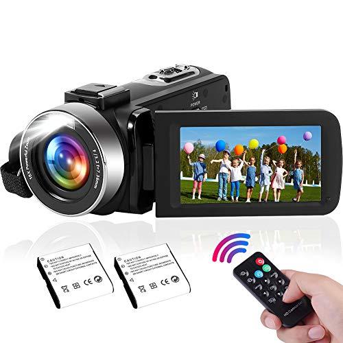 Camcorder 2.7K Videokamera mit integrierter LED-Füllleuchte, 42MP 30FPS FHD YouTube Videoaufnahme Leichte Camcorder 18x Digital Zoom Suppor Webcam