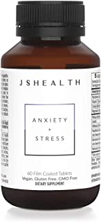 JSHealth Vitamins Anxiety + Stress Relief Supplement with Ashwagandha - Calming Vitamin B Mood Booster - (60)
