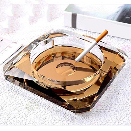 cendrier Xuan - worth having verre or cristal Décoration créative Décoration moderne (taille : 18*18*4cm)