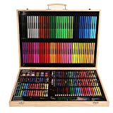 Vobajf Set de arte de inspiración para la escuela de arte y papelería creatividad, juego de dibujo para principiantes y artistas juveniles, juego de bolígrafos (color: natural, tamaño: tamaño libre)