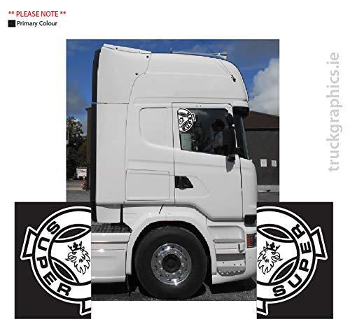 Generic Scania Super Solid Side wndow Sticker Outline, (21