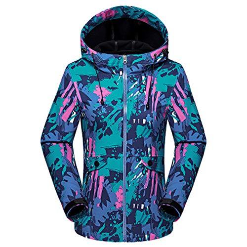 Regenjas voor dames, regenjas, regenjas, dames, outdoorjas, hooded softshell voor kamperen, wandelen, mountaineer hardlopen